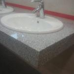 blat łazienkowy z granitu Bianco New Cristal